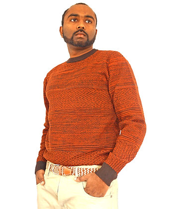 """Cigar Couture """"Rust"""" Sweater"""