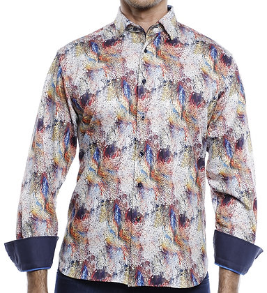 Luchiano Visconti (4146 - Multi) Mens Knit Button down shirt