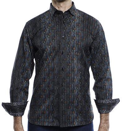 Luchiano Visconti Black button down shirt