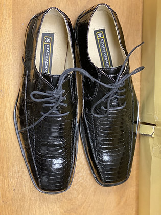 "Stacy Adams Black mens Snake and leather dress Shoe ""Jaxon"""
