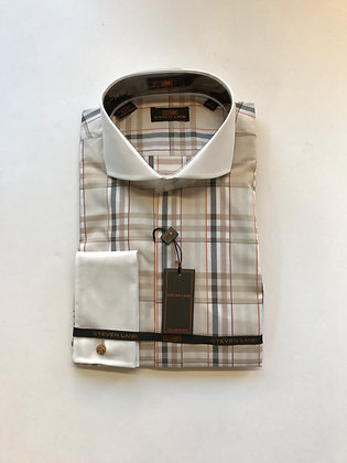 Steven Land French Cuff shirt Tan