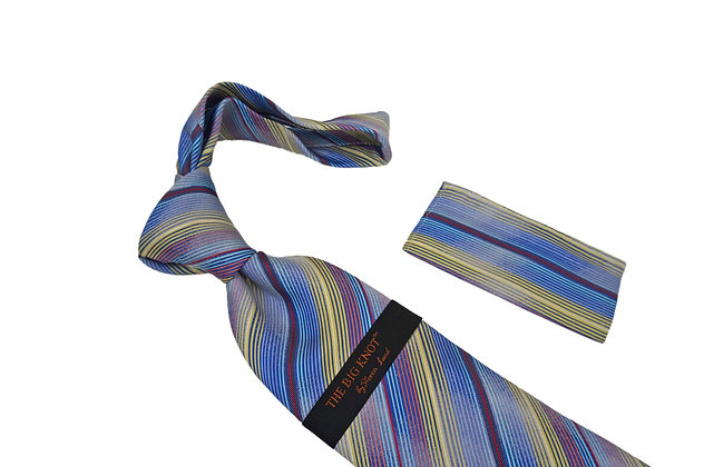 Steven Land (Blue) Tie and Hanky Set