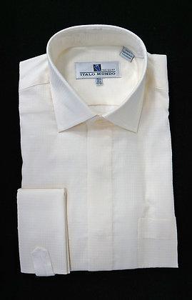 Italo Mondo Cream French Cuff Dress Shirt