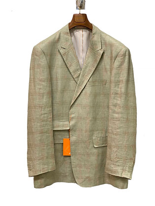 Inserch Green Linen Suit Jacket Separate Blazer, Size 46R