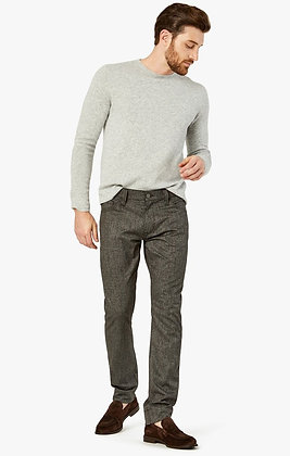 34 Heritage (Courage - Grey Checked) Mid Rise Straight Leg Jean Pant - Front view
