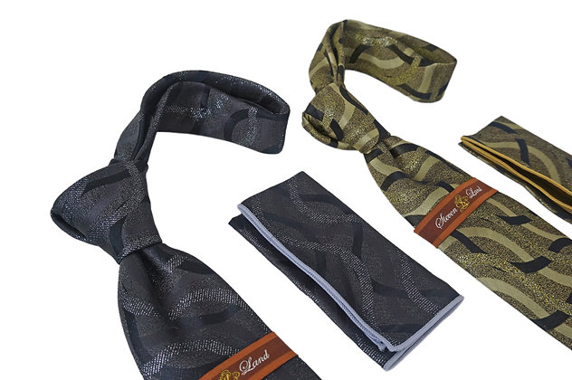 Steven Land Silk Tie and Hanky Set