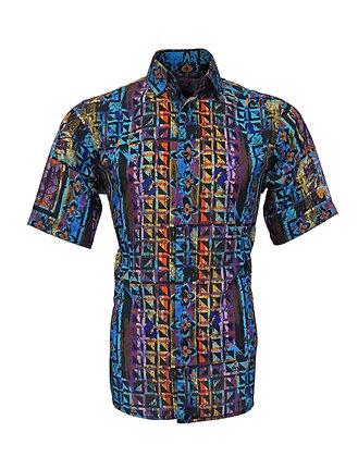 Bassiri ( Black Multi) Short sleeve shirt