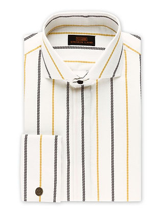 Steven Land (Peach) Greek key dress shirt