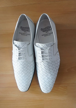 White Woven mens Italian Shoe by Calzoleria Toscana