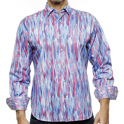 Luchiano Visconti (Blue and Pink) Water color design shirt