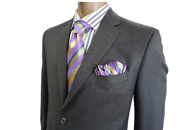 JACK VICTOR Single Breasted Mens Suit on Sale, size 42 Long