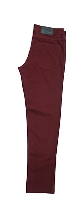 Burgundy mens Jeans by Enzo