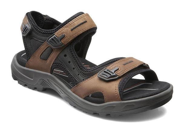 """Ecco (Yucatan) """"Bison/Black/Black"""" Sandal"""