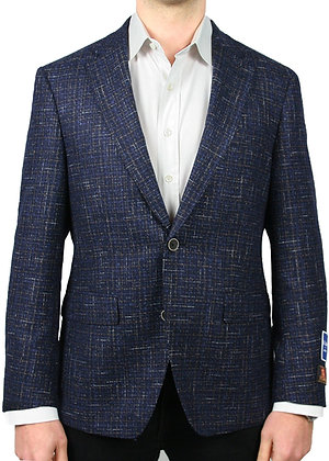 S. Cohen Bottoli Navy Boucle Blazer Jacket
