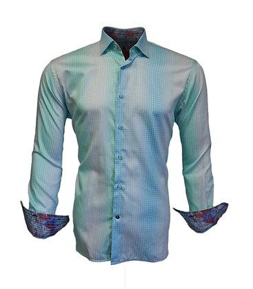 Luchiano Visconti (Seafoam) Button Down Shirt, Contrast Inner Cuff