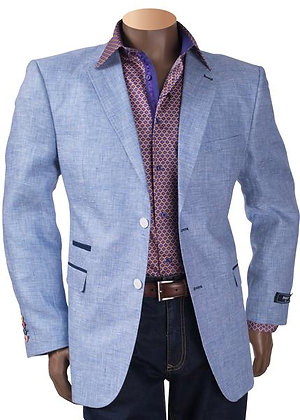 Inserch Linen Blazer with elbow patch trim