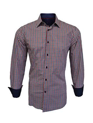 J Cado Button Down shirt, Contrast inner Cuff Trim