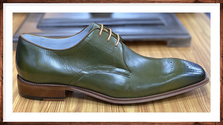 Olive Green Men's Oxford Shoe by Giovanni