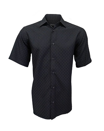 Black Casual Men's Shirt by Bassiri (62031), Sizes up to 5XL