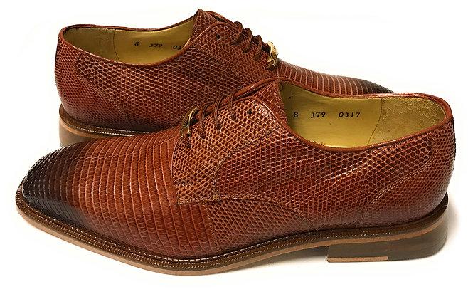 "Belvedere ""Olivo"" peanut lizard shoe"