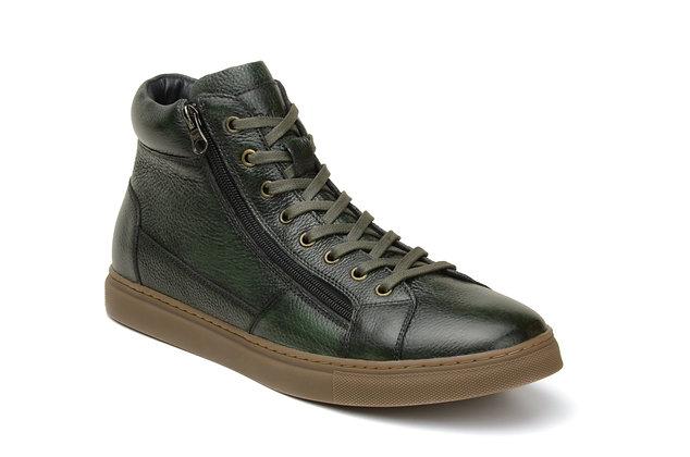Mens Belvedere (Baltazar - Green) hightop sneakers