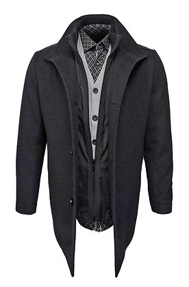 Weather Report Wool & Cashmere blend Carcoat with Removable Bib