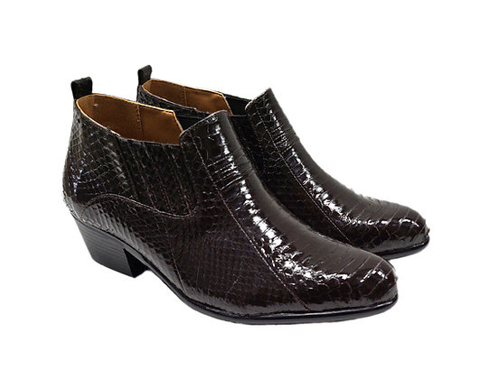 Men's Giorgio Brutini (Jarrett -  Brown) Snakeskin ankle Boot