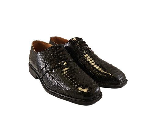 """Mens Black Snakeskin Oxford Shoe by Giorgio Brutini """"Slaton"""""""