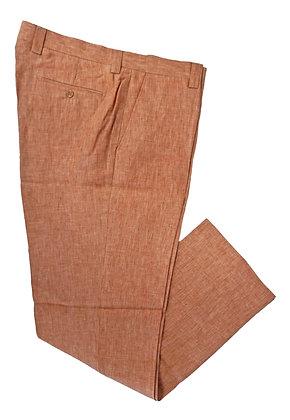 Inserch mens Copper linen pants, classic fit, Flat front