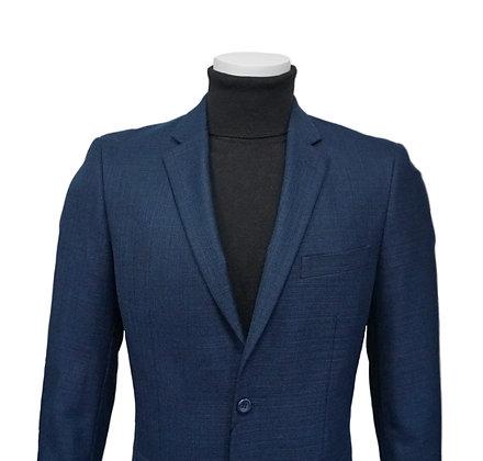 Andre Lanzino Wool Blue single breasted 2 button blazer