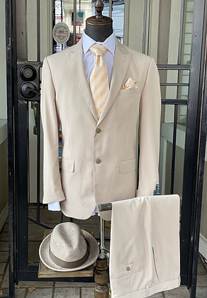 Lucciani Tan Single Breasted Two Button Suit