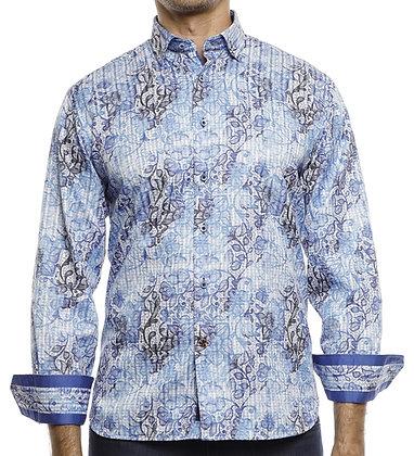 Luchiano Visconti (4172 - Blue) Mens Button down shirt