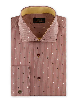 Steven Land (Purple) Nautica Specks stripe dress shirt