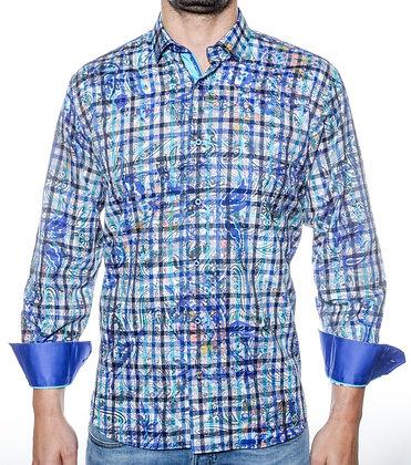 Visconti Black (Teal) Button Down Shirt