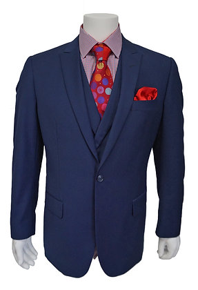 Steven Land Blue One Button Clarence Suit, size 50L (Single Pleated Pant)