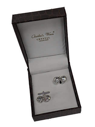 Charles Wain Crystal Collection Cuff Link
