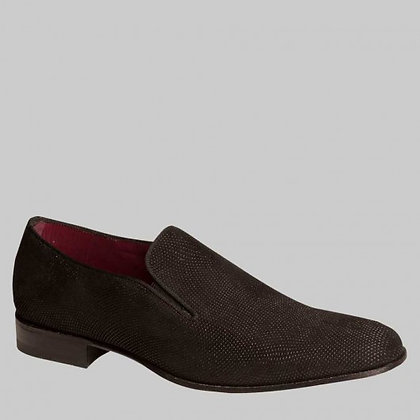 "Mezlan Black Suede Loafer ""Crespi"""