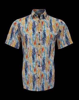 Bassiri (White Multi) Short sleeve shirt