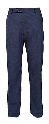 "Ballin (Dunhill) Comfort-""EZE"" Mouline Navy Blue Slacks ""Wool"""
