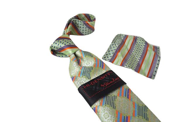 Steven Land Green Silk Multi Pattern Tie