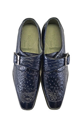 "Belvedere ""Josh"" Single Buckle Ostrich Shoe"