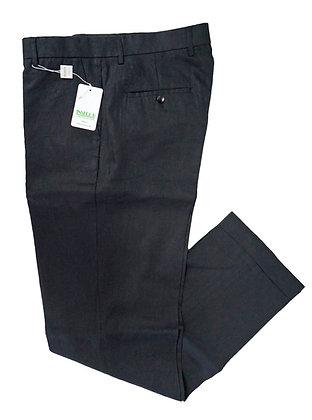 Inserch  Black Linen Pants, classic fit, flat front