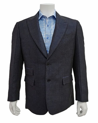 Cigar Couture Blue Single Breasted Blazer