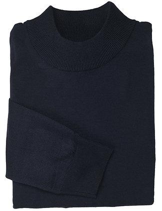 Inserch Black Cotton Blend Mock Neck Sweater