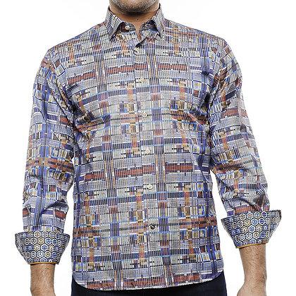 Luchiano Visconti Casual Men's Shirt Navy Blue