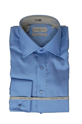"Steven Land (LT Blue) ""Elite"" dress Shirt, French Cuff"