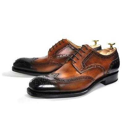 Ugo Vasares (H&H Wingtip Brogue - Cognac) Goodyear Welt Shoes