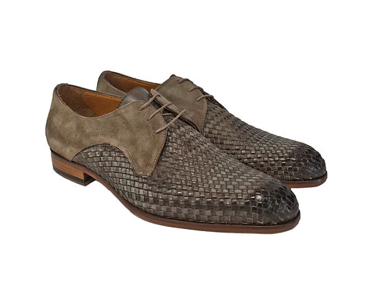 Jose Real (Velour topo) Suede trim Basket Weave Shoe