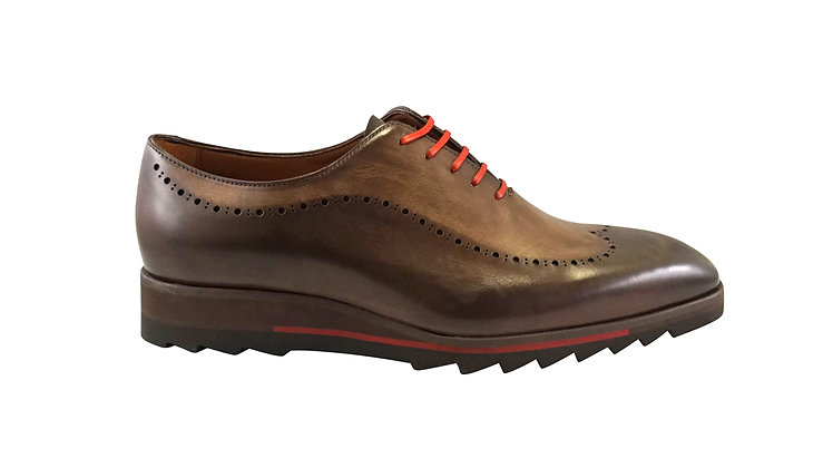 "Jose Real ""H698"" Brown Jagged Rubber Bottom Bottom Shoe"