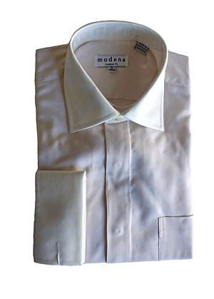 Modena Cream French Cuff Dress Shirt